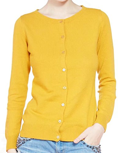 LongMing Women's Cardigan Sweater (Medium,Black)