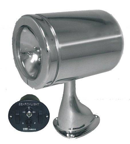 Jabsco 62026-4002H Marine 130 Remote Control Marine 5-Inch halogen Spot and Flood Beam Searchlight (12-Volt, 10-Amp, 9 Lux at 330-Feet, Standard Base) ()