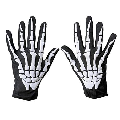 Amaping Unisex Full Finger Halloween Skull Bone Skeleton