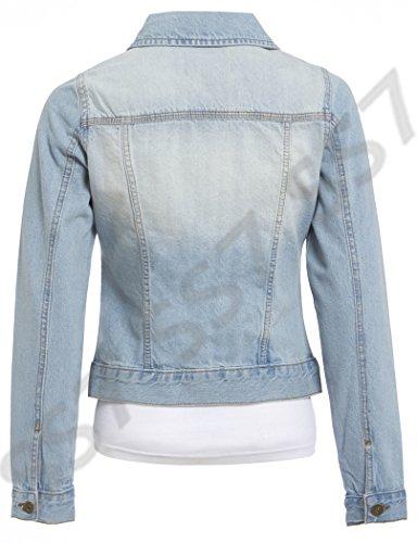 pour Tailles Clair Clair Jeans Jeans Bleu Veste 18 SS7 Femmes 24 Bleu En 48ppxw