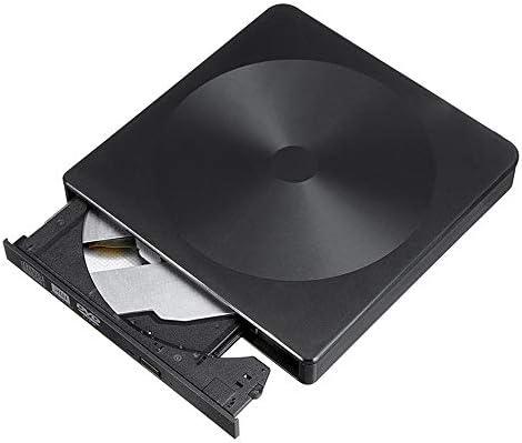 DVDドライブ PCのラップトップのためのUSB3.0タイプ-C外部CDバーナーCD/DVDプレーヤー光学ドライブ超薄型 CDドライブ (Color : Black, Size : One size)