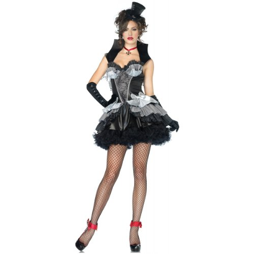 Queen Of Darkness Sexy Costumes (Leg Avenue Women's Queen Of Darkness Costume, Black/Gray, Medium)