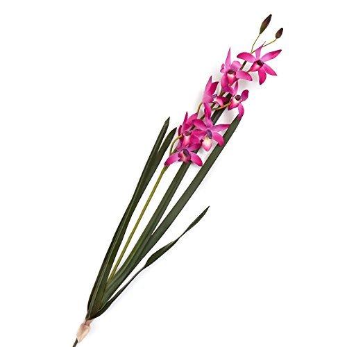 工場直接クラフトPolyシルクFuchsia Orchid Floral Stem | 29 Inches Long B07BP9BK9D