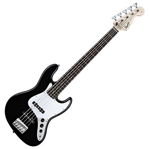 Squier by Fender Affinity Jazz V String Beginner Electric Bass Guitar - Rosewood Fingerboard, Black