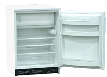 "Nor-Lake Scientific LRF051WWW/0M Painted White Under-Counter or Freestanding Refrigerator/Freezer, 115V, 60 Hz, 4.1 cu ft Capacity, 23-5/8"" W x 33-1/2"" H x 24-7/8"" D, -20 to -10 Degree C"