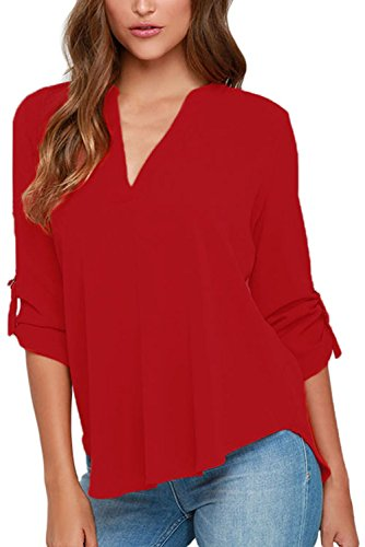 LOSRLY Women's 3/4 Long Sleeve T-shirts Plus Size Casual Blouse Top 18/22 (Western Ladies T-shirts)