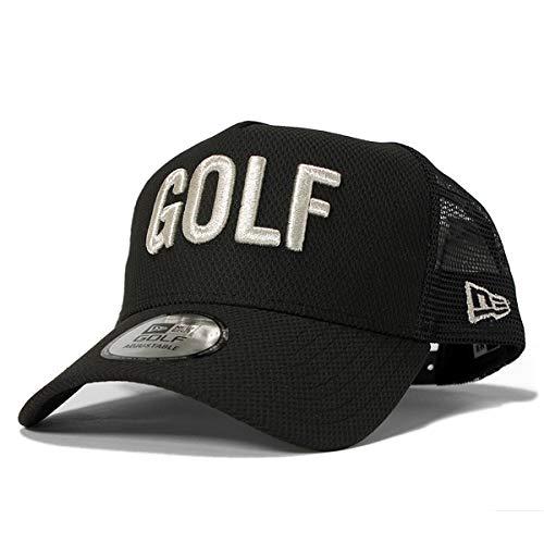ロシア環境保護主義者沿って[ニューエラ] ゴルフ キャップ 9FORTY A-Frame トラッカー ダイヤモンドエラ GOLF ブラック×メタリックシルバー 11781186