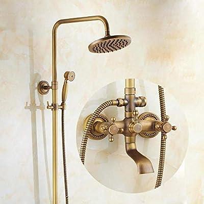sistemas de ducha Conjunto de ducha cepillado vintage de latón ...