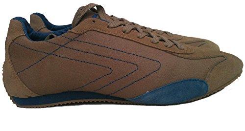 Sisley - Zapatillas para deportes de interior de Piel para hombre Beige - beige