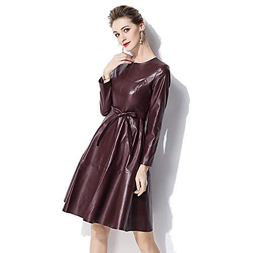 JIZHI Unita A Line Abito Elegante Da Donna In Stile Tinta Red XL r4Azr1q