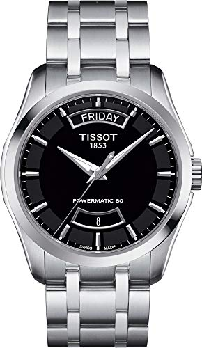 Tissot Couturier Black Dial Stainless Steel Men's Watch T0354071105101