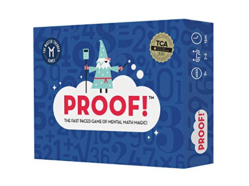 Proof! Math Game - The Fast Paced Game of Mental Math Magic - Teachers' Choice Award Winning Educational Game, Ages 9+