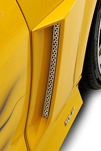 Xenon Rear Valance - American Car Craft Chevrolet Camaro 2010 2011 2012 Xenon Side Coupe Perforated Side Vent Grilles Chrome