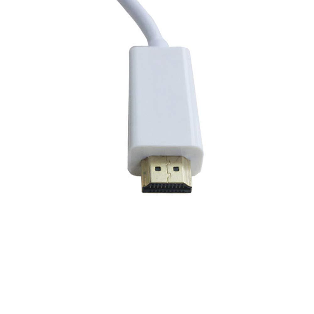 HDTV 1.8M PC Aofocy Conversion adaptateur DisplayPort vers HDMI C/âble de conversion pour t/él/éviseur pour ThinkPad bureau ordinateur portable