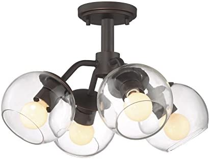 Designers Fountain 91234-SB Meridian 4 Light Convertible Pendant/Semi-Flush