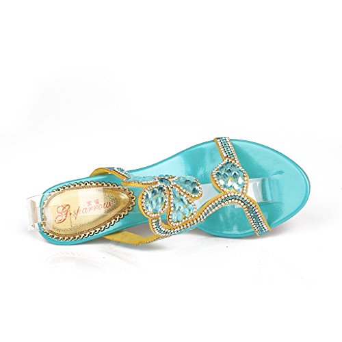 Meijili - plataforma mujer Azul