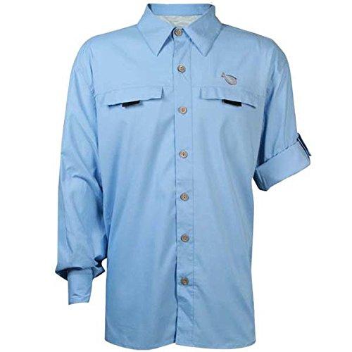 Mojo Mr. Big Long Sleeve – Sky Blue – Men's Extra Large Performance Fishing Shirt Review