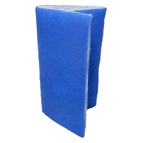 24 inch by 15 inch Dual-Density Bonded Cut to Fit Filter Pad for Fresh Water & Saltwater Aquariums, Aquaculture, Terrariums & Hydroponics! by Aquarium Masters