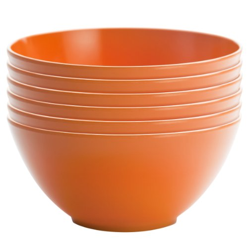 Zak Designs 0550-9412-ISET Ella Soup Bowls, Set, Hex Orange -