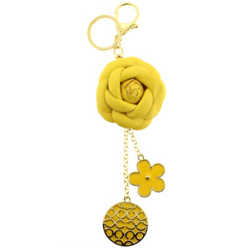 yellow-flower-style-purse-clip-keychain-in-genuine-leather-8-overall-length