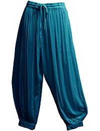 Men's Indian Aladdin Gypsy Hippie Yoga Meditation Harem Pants (P2)