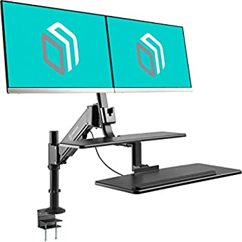 Amazon Com North Bayou Sit Stand Desk Converter Height