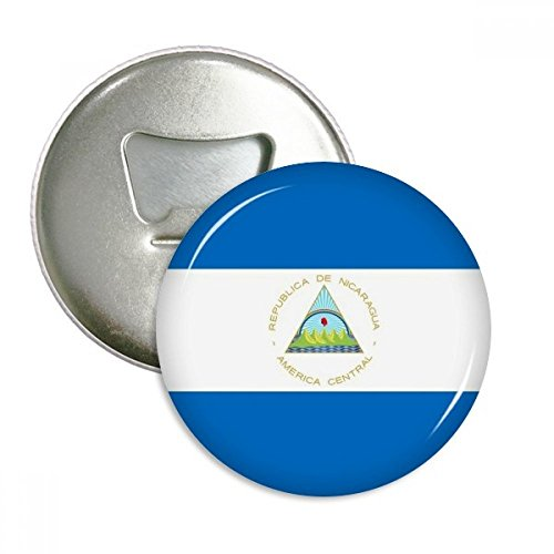Nicaragua National Flag North America Country Round Bottle Opener Refrigerator Magnet Pins Badge Button Gift 3pcs by DIYthinker (Image #3)