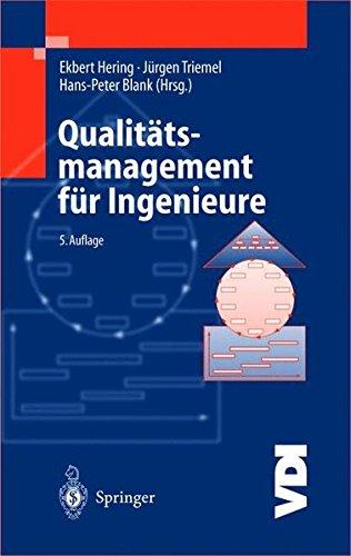 Qualitätsmanagement für Ingenieure (VDI-Buch) Gebundenes Buch – 27. November 2002 Ekbert Hering Jürgen Triemel Hans-Peter Blank Springer