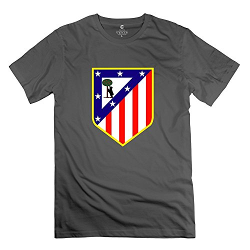 Male Atletico Madrid Personalized O Neck DeepHeather T-Shirt By Mjensen