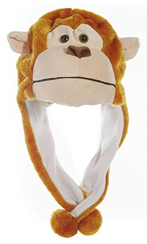 Animal Head Super Soft Plush Childrens Hat - Monkey ()