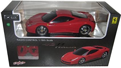 Amazon Com Remote Control Ferrari Italia 458 1 18 Red Rc Car Toys Games