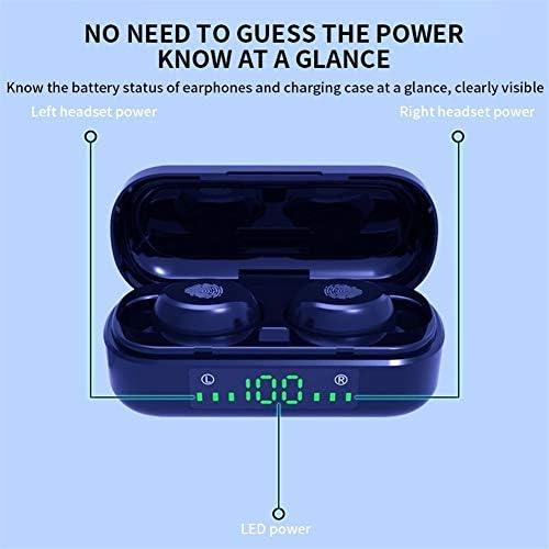Bluetooth koptelefoon 5,0 Earphones Wireless Headphones TWS Headset Sport Oordopjes LED oordopjes Oordopjes hoofdtelefoon for Android (Color : Fingerprint touch)