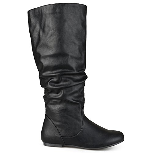 - Brinley Co Womens Extra Wide-Calf Mid-Calf Slouch Riding Boots Black, 7.5 Extra Wide Calf US