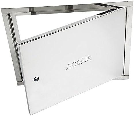 Tapa de acero galvanizado, inoxidable, para contador de agua; disponible en todos los tamaños