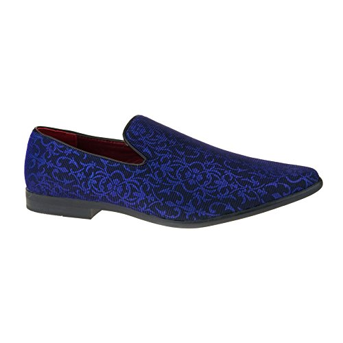 6 Loafers Dress Casual Neue Smart Fashion Mens 11 blau UK Slipper Schuhe Größe Designer ZPP6cx