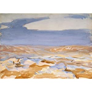 Oil Painting 'John Singer Sargent,The Desert From Jerusalem,1905' Printing On High Quality Polyster Canvas , 16x22 Inch / 41x57 Cm ,the Best Bedroom Decor And Home Decoration And Gifts Is This Imitations Art DecorativePrints On Canvas