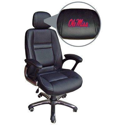 NCAA Ole Miss Rebels Leather Office Chair