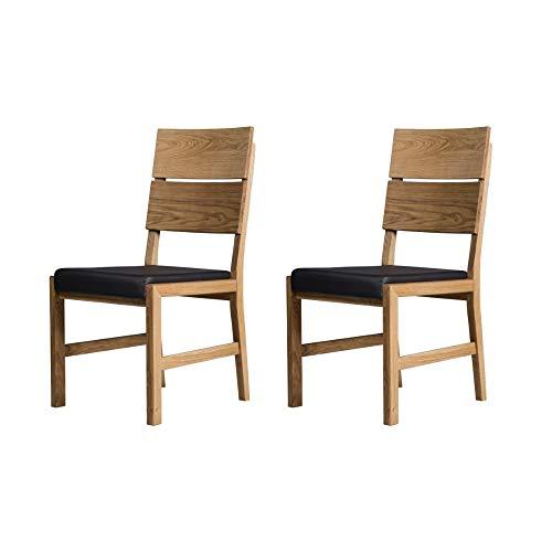 Marca Amazon - Alkove - Hayes - Set de 2 sillones de madera ...
