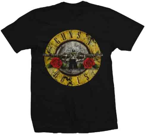 GUNS N ROSES DISTRESSED BULLET MENS LIGHTWEIGHT TEE
