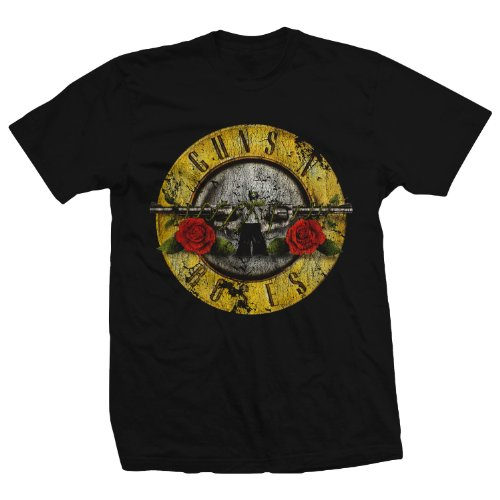 Bravado Guns N' Roses Distressed T-Shirt Medium Black Gun Tee