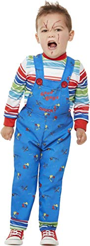 Rugrats Chucky Costume (Smiffys Chucky Costume Blue Toddler Age)