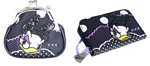 Disney Daisy Duck Purse and Wallet Set with Glitter Daisy Duck (Disney Licensed) (Duck Coin)