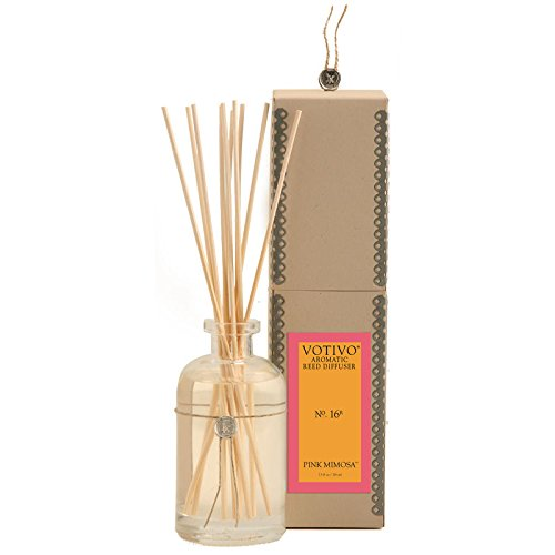 2 Pack Votivo Pink Mimosa #16 Aromatic Reed Diffusers by Votivo