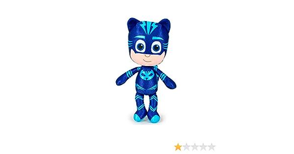 PJ Masks Héroes en Pijamas 5961 Peluche, 23 Centímetros, Calidad Super Suave, Gatuno, Buhíta, Gecko (Gatuno)