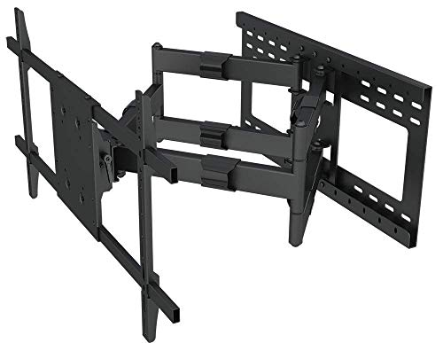 Cremax TV Wall Mount Bracket Full Motion, Tilts, Swivels for Most 37-90 Inch LED LCD OLED Flat Curved Screen Plasma TVs with Dual Articulating Arms, Holds Up to 165lbs VESA 800x600mm, Max Stud Spacing