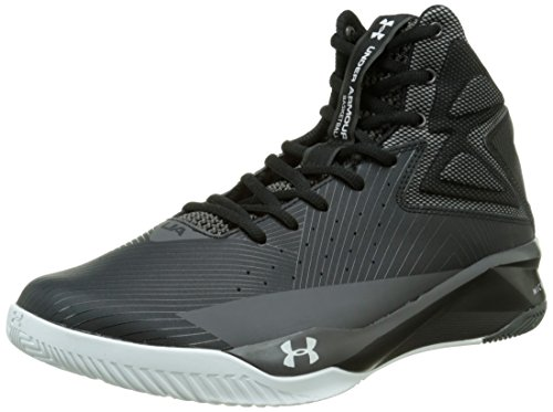 Under Armour Mens UA Rocket Basketball Shoes Black/White/Charcoal 8 D(M) - Park Mall River