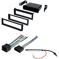 CAR STEREO RADIO DASH INSTALLATION MOUNTING KIT+ WIRING HARNESS + RADIO ANTENNA ADAPTER FOR SELECT VOLKSWAGEN VEHICLES 1998 - 2002