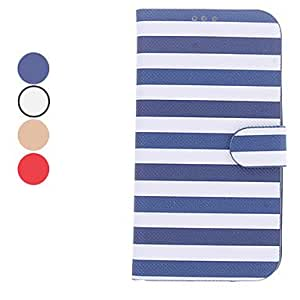 Stripe Pattern PU Leather Full Body Case with Stand and Card Slot for Samsung Galaxy S4 I9500 (Assorted Colors) --- COLOR:Brown
