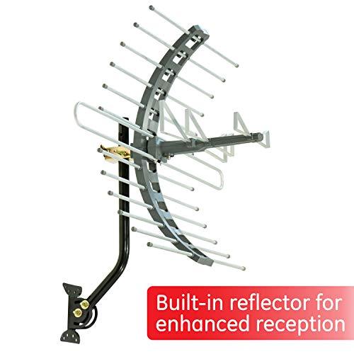 GE Pro Attic Mount TV Antenna, Outdoor, Attic, Long Range Antenna, Digital, HDTV Antenna, 4K 1080P VHF UHF, Compact Design, 29884