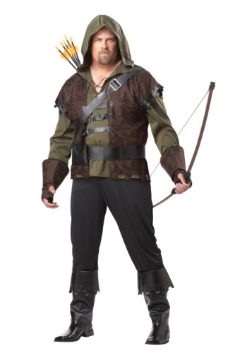 California Costumes Plus-Size Robin Hood Shirt With Vest, Olive/Brown, One Size Costume (Vest Robin)